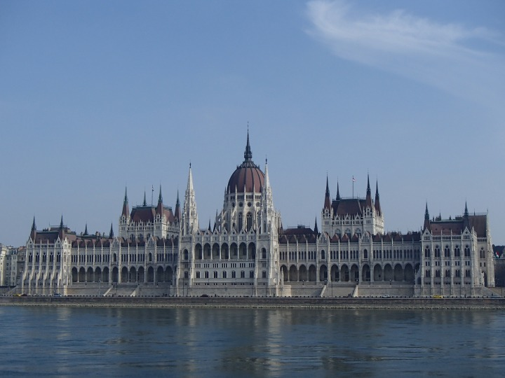 Our amazing view of the Parliament building from across the river!