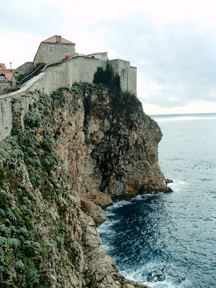 Cliffside of the Dubrovnik Wall