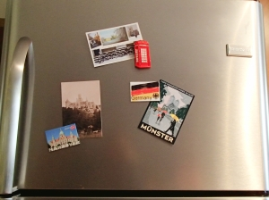 decorating with postcards